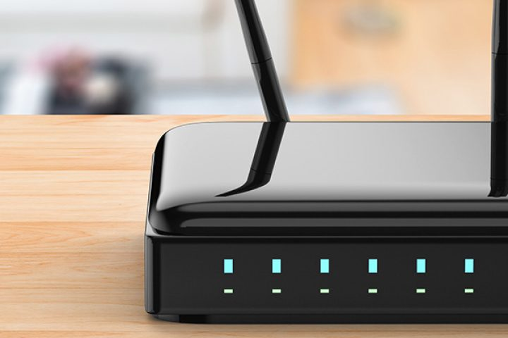 Wireless router in a house