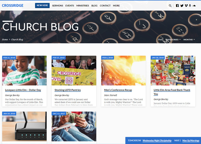 CrossRidge Blog with news and articles about CrossRidge Church