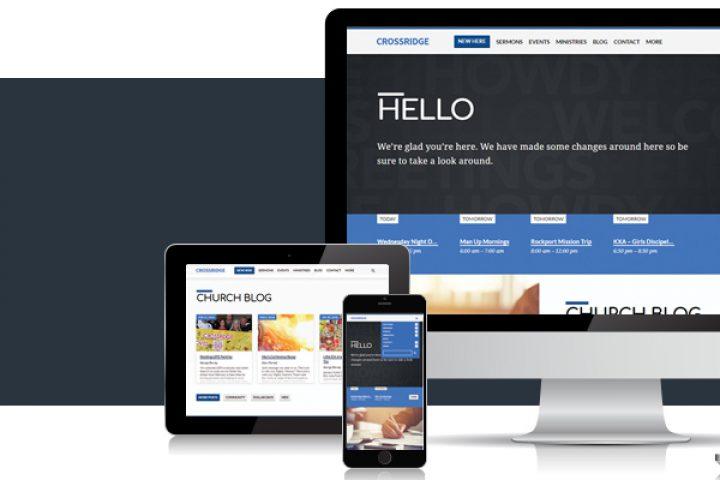CrossRidge Church New Website