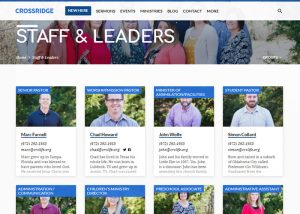 CrossRidge Staff and Leaders Directory