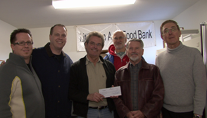Dollar Day gift to Little Elm Area Food Bank