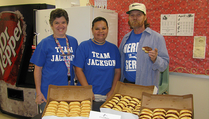 Dollar Day delivery of donuts to LEISD