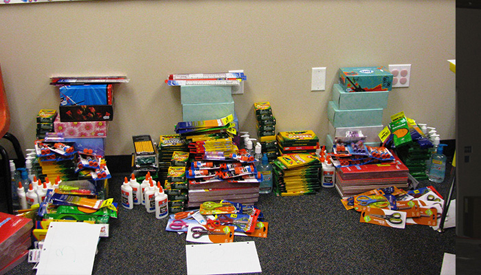 Dollar Day for school supplies for LEISD and NTCA