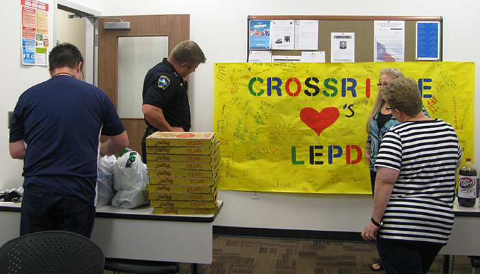 Dollar Day delivery of lunch and snacks for LEPD