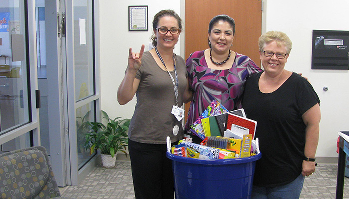 Dollar Day school supply delivery for LEISD