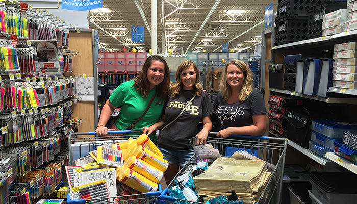 Dollar Day school supply shopping for LEISD and NTCA
