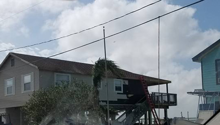 House damaged after Hurricane Harvey